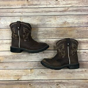 Justin Boots Slip On Cowgirl Boots
